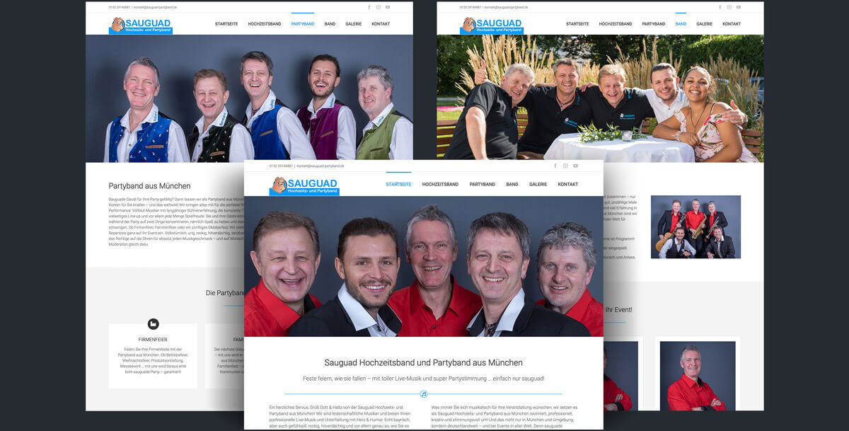 Website Sauguad Partyband