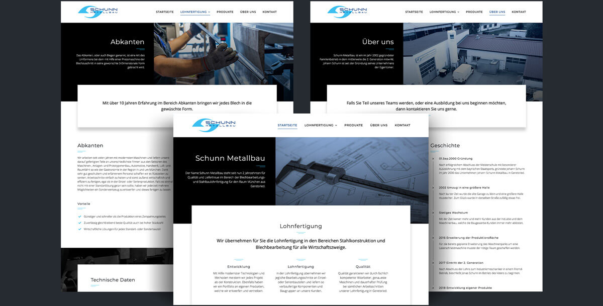 Website Schunn Metallbau